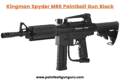 Kingman Spyder MR6 Paintball Gun Black