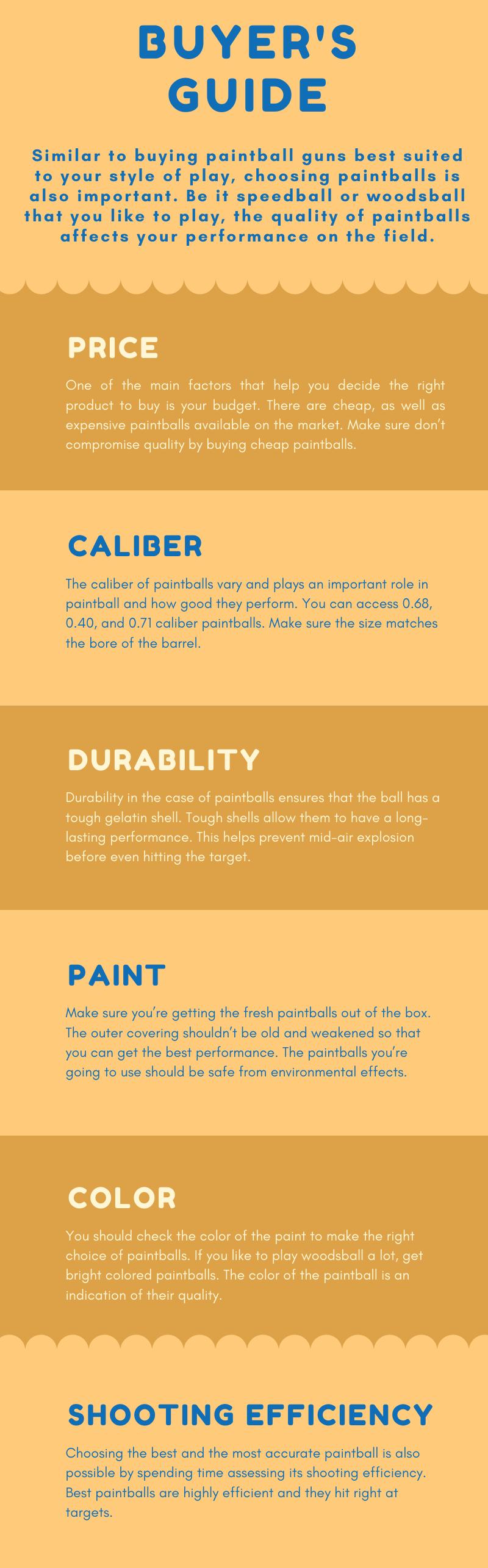 Best Paintballs Buyers Guide