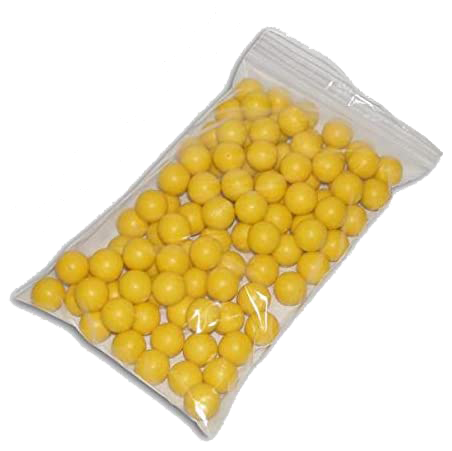 GXG-Paintball-Rubber-100-Reusable-Paintballs---Yellow